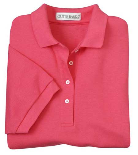 Outer Banks ladies pique knit polo shirt